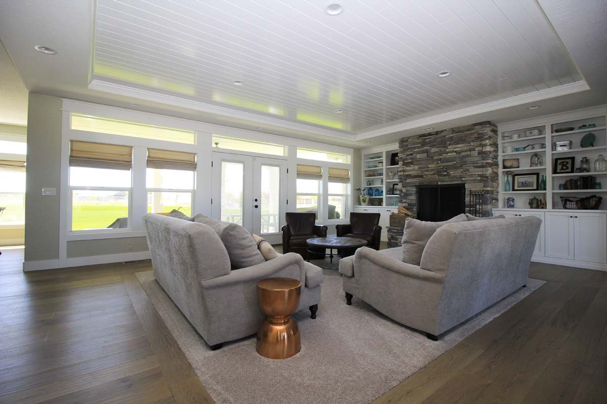 Canyon Lake Custom Home Living Room