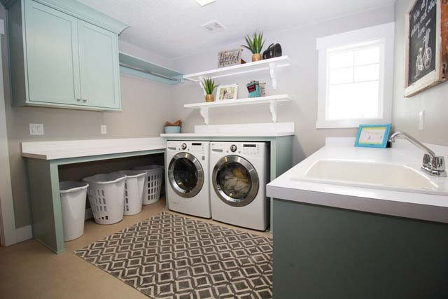 Castleton Custom Home Laundry Room