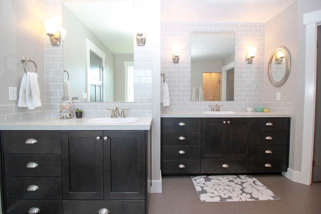 Castleton Custom Home Master Bathroom Vanities