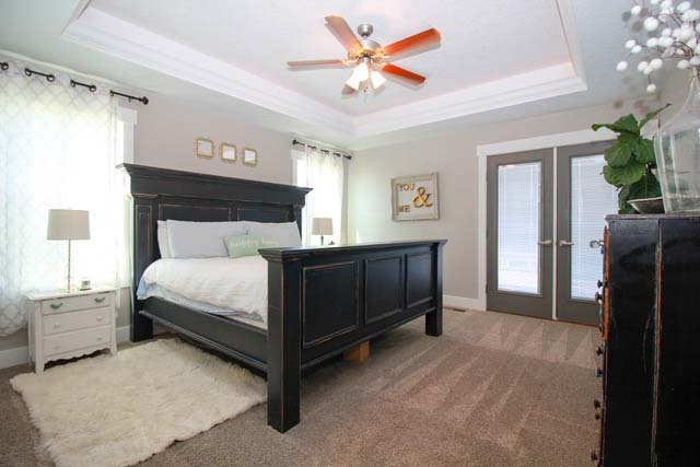 Castleton Custom Home Master Bedroom