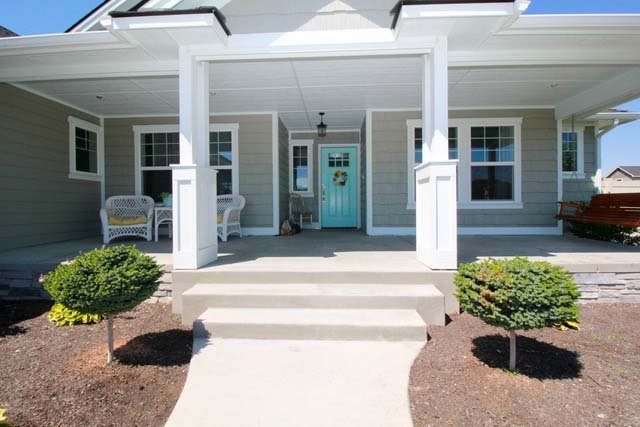 Castleton Custom Home Porch