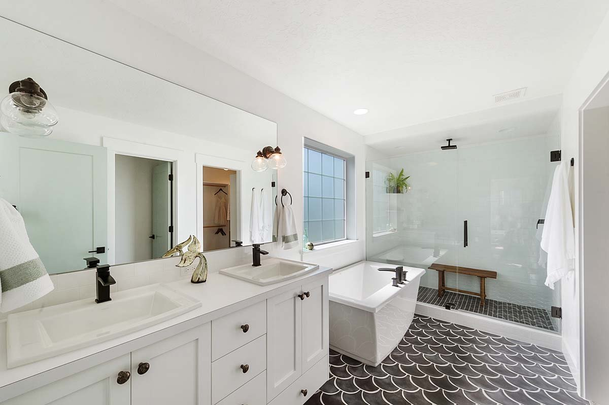 Herron Custom Home Master Bathroom
